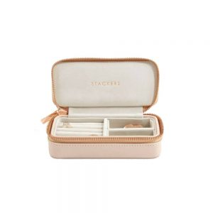 STACKERS Classic Travel Jewellery Box Blush & Gray