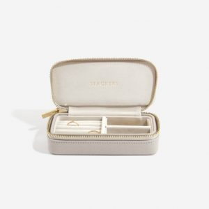 STACKERS Classic Travel Jewellery Box Taupe & Gray